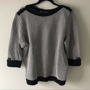 🆕 NWT Karen Scott black and white thick sweater
